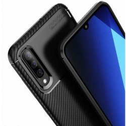 Samsung A70 Stöttåligt Skal FullCarbon® V4 (SM-A705FN/DS) Svart
