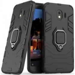 Samsung J4 Plus Stöttåligt Skal med Ringhållare ThinArmor® Svart