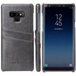 Samsung Note 9 Stötdämpande Korthållare Retro® Svart