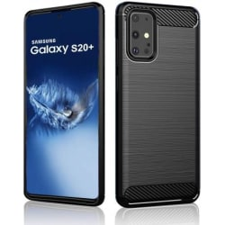 Samsung S20 Plus Stöttåligt Skal SlimCarbon® Svart