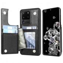 Samsung S20 Ultra Stöttåligt Skal Korthållare 4-FACK Flippr® Svart