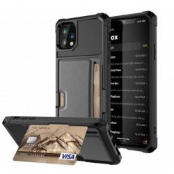 Samsung S20 Ultra Stöttåligt Skal med Kortfack Solid® V2 Svart