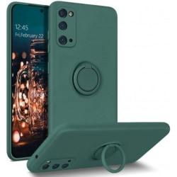Samsung S20 Ultra Stöttåligt Skal med Ringhållare CamShield Grön