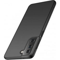 Samsung S21 Slimmad Gummibelagd Mattsvart Skal Basic® V2 Svart