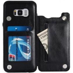 Samsung S8 Plus Stöttåligt Skal Korthållare 2-FACK Flippr® Svart