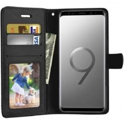 Samsung S9 Plus Plånboksfodral PU-Läder 4-FACK (SM-G965F) Svart