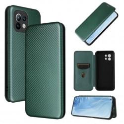 Xiaomi Mi 11 Flipfodral Kortfack CarbonDreams® Grön Grön
