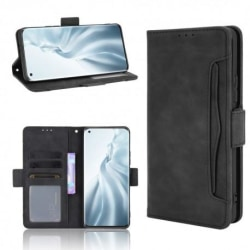 Xiaomi Mi 11 Plånboksfodral PU-Läder 6-FACK Winston® V3 Svart