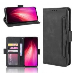 Xiaomi Redmi Note 8 Plånboksfodral PU-Läder 6-FACK Winston® V3 Svart