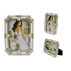 Elegant Fotoram 8 Kantig Lätt Glitter 10 X 15 CM Silvergrå