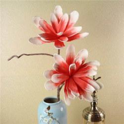 Europeiska Magnolia Konstblomma 80 cm 3 st Aprikos Aprikos