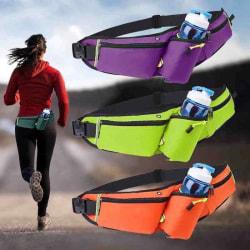 Löparväska för mobil med vatten hållare Lime+trådlöst hörlurar Limegrön XL