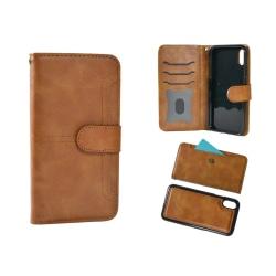 Plånboksfodral till iPHONE XS avtagbar skal Beige Beige