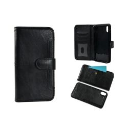 Plånboksfodral till iPHONE XS avtagbar skal Svart Black
