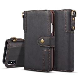 Plånboksfodral till Samsung Galaxy Note 10 med nyckelring Svart Svart