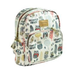 Ryggsäck för barn med ugglor motiv Beige Beige one size