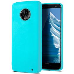 Skal till Motorola Moto G6 Plus Cyan matt TPU Skydd Fodral Turkos