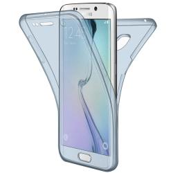 360 Grad Skydd för Samsung Galaxy Note 6 / Note 7 Genomskinligt  Blå