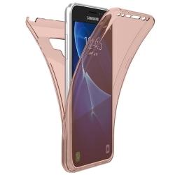 360 Grad Skydd för Samsung Galaxy Note 9 Mobilskydd Genomskinlig Rosa guld