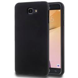 Mjukt Mobil-Skydd för Samsung Galaxy J7 Prime Enfärgat TPU Mobil Svart