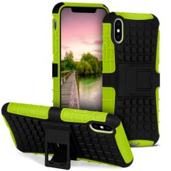 Antislip fodral för Apple iPhone X / XS Hybrid Outdoor Stötsäker Grön