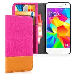 Denim Mobil-Skal för Samsung Galaxy J5 TPU Magnet Stötsäker Mobi Rosa