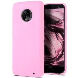 Skal till Motorola Moto G6 Plus Rosa matt TPU Skydd Fodral Rosa