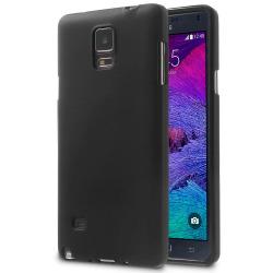 Enfärgat Mjukt Skal för Samsung Galaxy Note 4 Tunnt Skydd Stötsä Svart