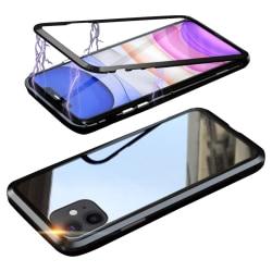 Glasskydd kompatibelt med iPhone 11   Magnet fall   Svart