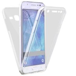 Helskydd Mobil för Samsung Galaxy J5 Stötsäker Genomskinligt Sil Transparent
