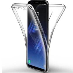 Helskydd Mobil för Samsung Galaxy S8 Stötsäker Gummi Silikon Ska Transparent