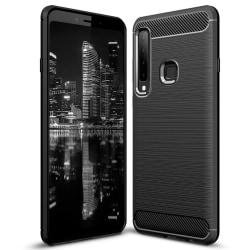 Kolfiber Skal för Samsung Galaxy A9 (2018) TPU Mobilskydd Svart Svart