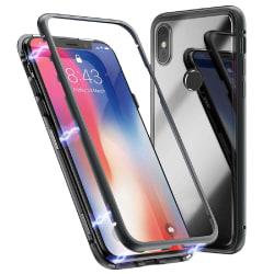 Metall och Glas Skydd för Xiaomi Mi 8 Aluminium Hård-Plast Armor Svart