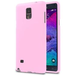 Mjukt Mobil-Skydd för Samsung Galaxy Note 4 Enfärgat Mobilskydd  Rosa