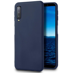 Mjukt Skal till Samsung Galaxy A8+ (2018) i TPU Silikon Blå Blå