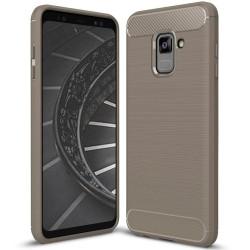 Mjukt Stöttåligt Skal till Samsung Galaxy A8+ (2018)   Grå grå