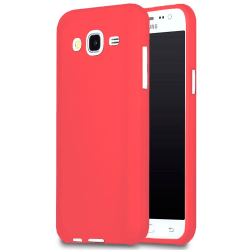 Mjukt Tunnt Mobil-Skydd för Samsung Galaxy J5 Stötsäker Mobilsky Röd