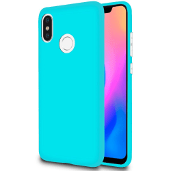 Mjukt Tunnt Mobil-Skydd för Xiaomi Mi 8 Mobilskal Lätt Gummi Stö Turkos