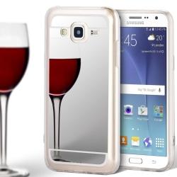 Mobil Skal TPU för Samsung Galaxy J5 Telefon Mobilskydd Spegel S Silver