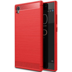 Mobil Skydd Gummi för Sony Xperia L1 Mobilskydd Mobilskal Telefo Röd