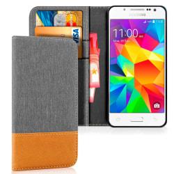 Mobilfordral Jeans för Samsung Galaxy J5 Magnet Mobilskydd Mobil grå