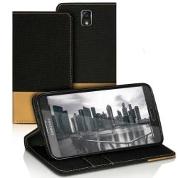 Mobilfordral Jeans för Samsung Galaxy Note 3 Neo Konstläder Kort Svart