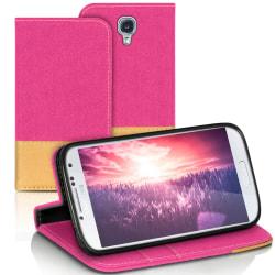 Mobilfordral Jeans för Samsung Galaxy S4 Telefon TPU Skal Stötsä Rosa