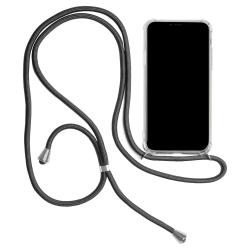 Mobilskal med Halsrem för iPhone 11 Stötsäker TPU Mobilskydd Tel Mörkgrå