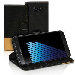 Plånboks Fodral Skal för Samsung Galaxy Note 7 Korthållare Konst Svart