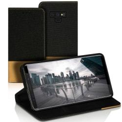 Plånboks Fodral Skal för Samsung Galaxy Note 9 Skydd Konstläder  Svart