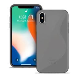 S-Line Slim Cover för Apple iPhone X / XS Vanliga färger Gummi T grå