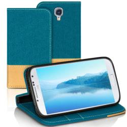 Samsung Galaxy S4 Jeans Full Cover TPU Stötsäker Skydd Telefon M Turkos