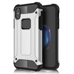 Skal till Apple iPhone X Silver Hårt Armor Skydd Fodral Silver