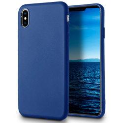 Skal till Apple iPhone XS MAX Blå matt TPU Skydd Fodral Blå